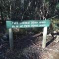 Signage at Hardings Falls