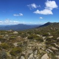 Views from the saddle east of Mt Mawson